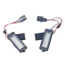 1 пара 3 W/12 V светодиодный номерной знак лампа для VW GOLF 4 5 6 7 поло 6R экстерьера автомобиля аксессуары белый лампа подсветки номерного знака