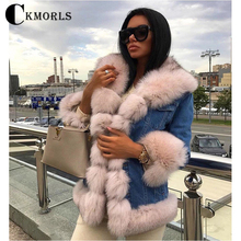 CKMORLS 2018 New Arrival Real Fox Fur Coats For Women Winter Parka Coat With Collar Jacket Casual Thick Warm Jackets