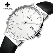 (26P-W) New Brand Men Wrist Watch Dress Quartz Business Casual Watch Fashion Luxury Waterproof Leather strap White dial цена 2017