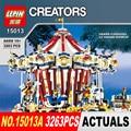 3263 UNIDS Lepin 15013A Ciudad Calle Ceator Modelo Kits de Construcción de Bloques de Juguete parque de atracciones Carrusel Compatible 10196 Regalos de Cumpleaños