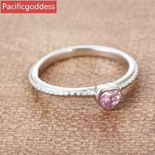 steel color Wedding Band ring Anniversary Jewelry Size 6 7 8 9 heart shape pink