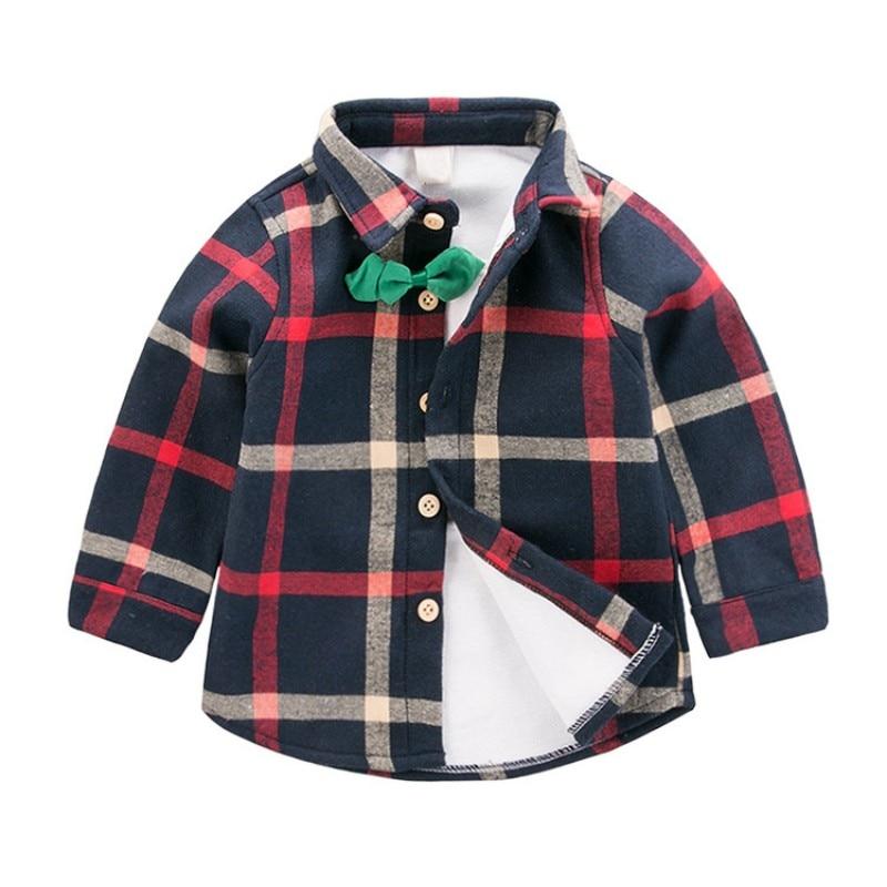 Kinder Casual Geruite Plus Shirt Nieuwe Jongens En Meisjes Lange Mouwen Kinder Shirts Casual Y6