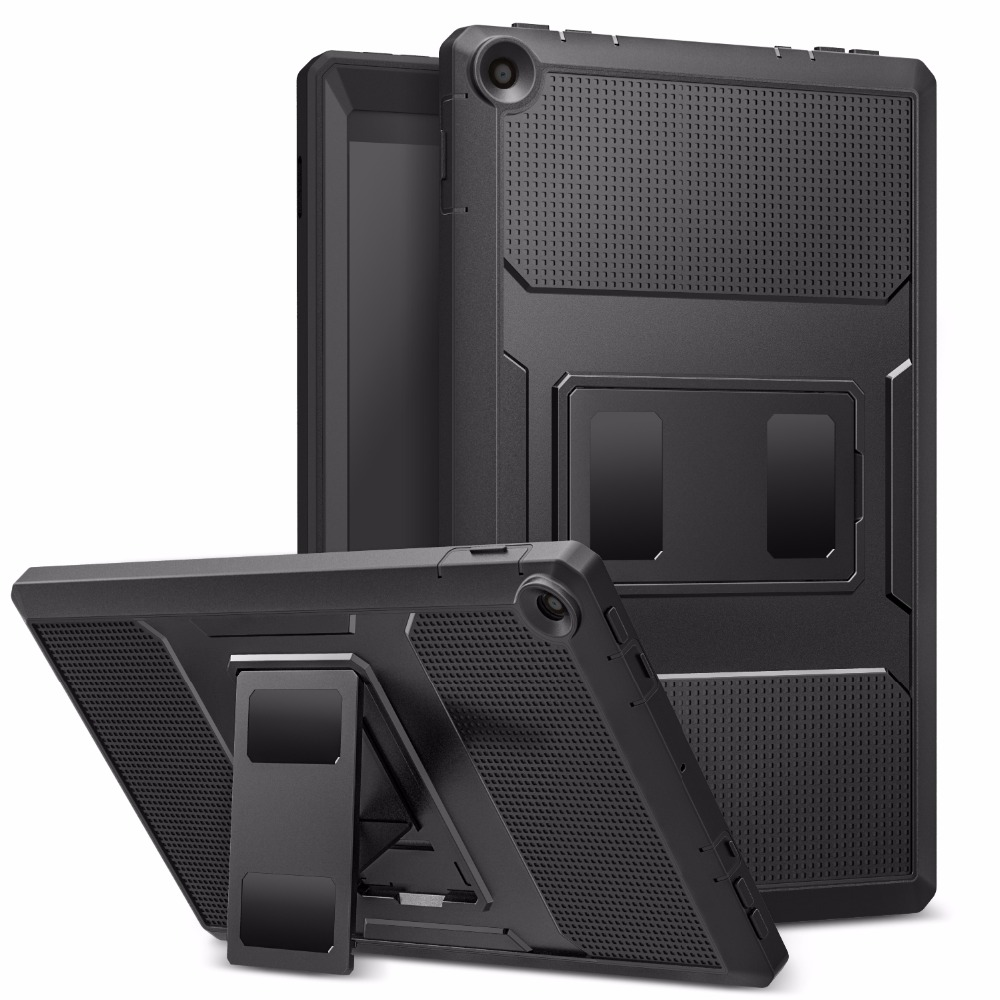 MoKo Case for All-New Amazon Fire HD <font><b>10</b></font> Tablet (7th Generation,2017/<font><b>2019</b></font> Release)-[Heavy Duty] Shockproof Full Body Rugged <font><b>Cover</b></font> image