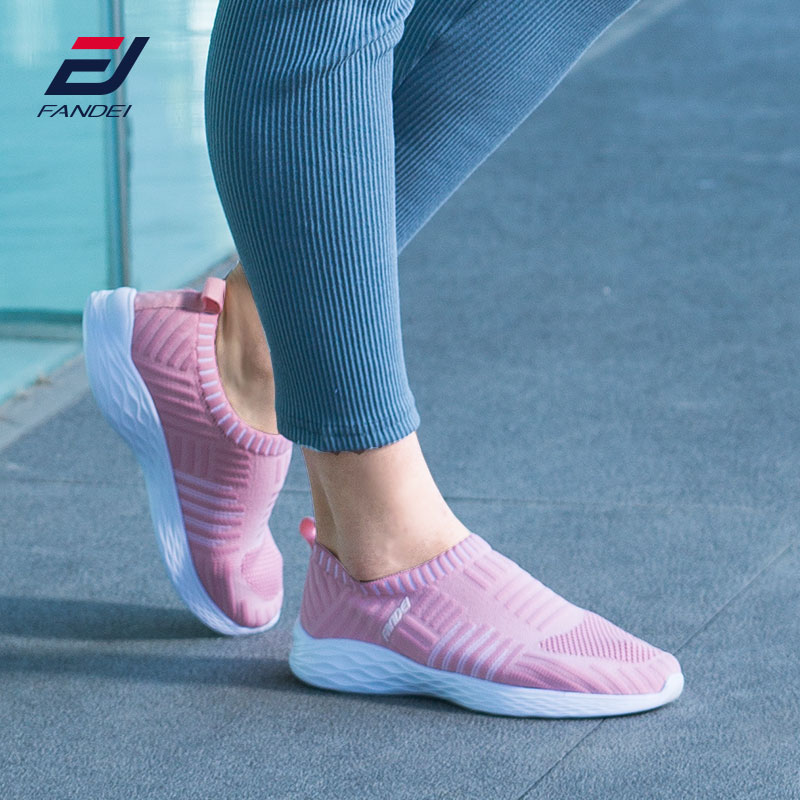 FANDEI 2018 Women Walking Shoes Women Breathable Mesh Sneakers Woman Comfortable Sport Shoes Sapatilhas Mulher Zapatos De Mujer 2018 autumn sneakers women breathable mesh running shoes damping sport shoes woman outdoor blue walking zapatos de mujer betis