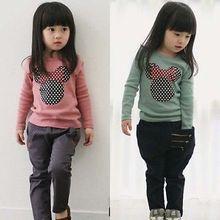Кот блузка футболка малыш рубашка девочек топы длинным рукавом мода детские