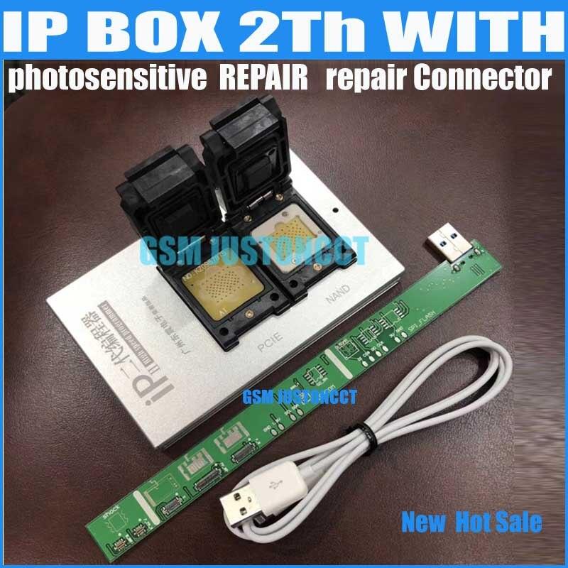 IPBox V2 caja IP 2th NAND PCIE 2in1 de alta velocidad programador fotosensible repairConnector + para iP7 Plus/7 6/6 S/6/6 plus/5S/5C/5