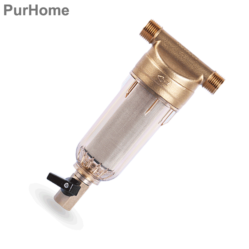 цена на 1/2 Inch Copper Port Cleaner Pre-Filter Household  Water Purifier Health Household Water Filter Pipes Whole Central Descaling
