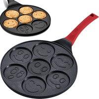 Smiley Face Animal Pancake Pan Fun Mini Omelette Frying Pan With Double Layer Non Stick Coating Pancake Pan Breakfast Pot