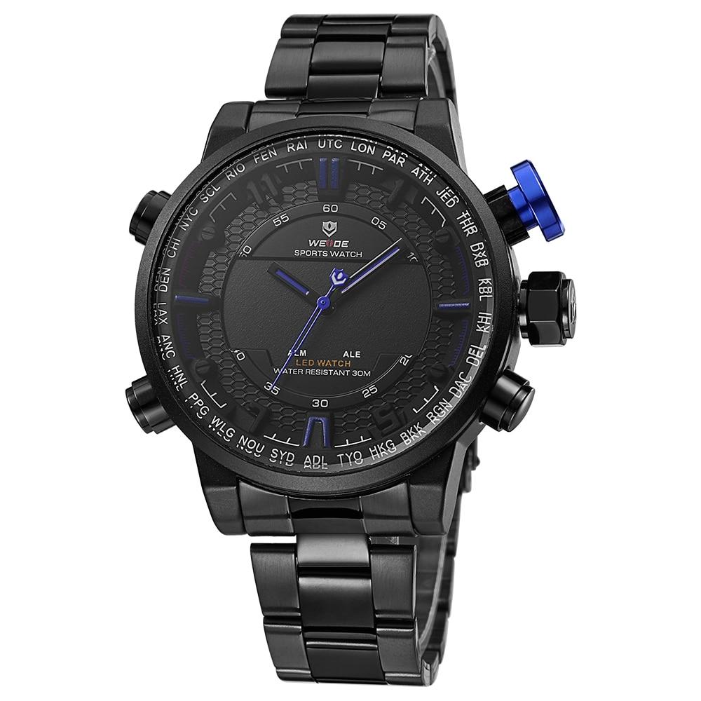 2017 New Watches Men Luxury Brand WEIDE Men's Quartz LED Digital Man Army Military Sports Wrist Watch Relogio Masculino