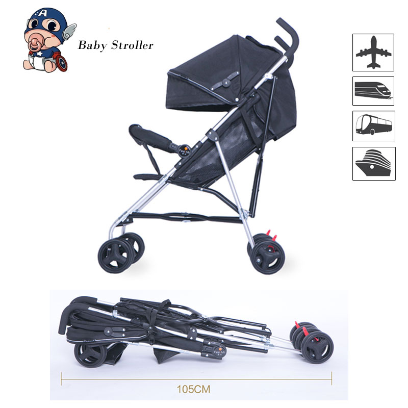 Baby Stroller Lightweigh Foldable Aircraft Aluminum Alloy Frame Baby Travel Carriage Pushchair Suitable Form Birth To 25 KgBaby Stroller Lightweigh Foldable Aircraft Aluminum Alloy Frame Baby Travel Carriage Pushchair Suitable Form Birth To 25 Kg