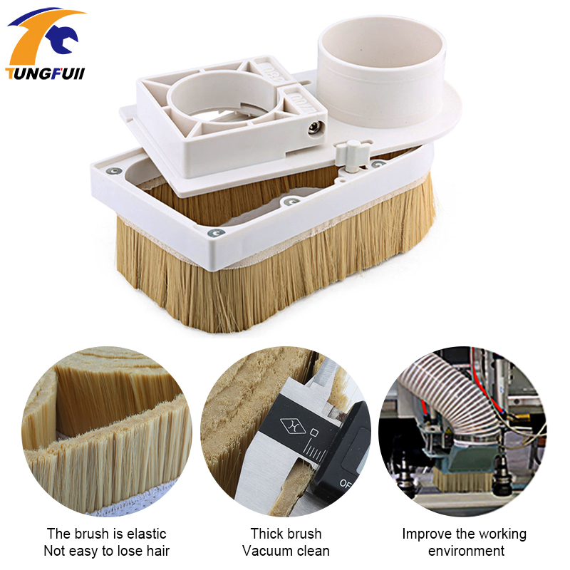 Engraving machine vacuum cover accessories plastic adsorption nut woodworking removable dust cover dust cover engraving machine-in Woodworking Machinery Parts from Tools