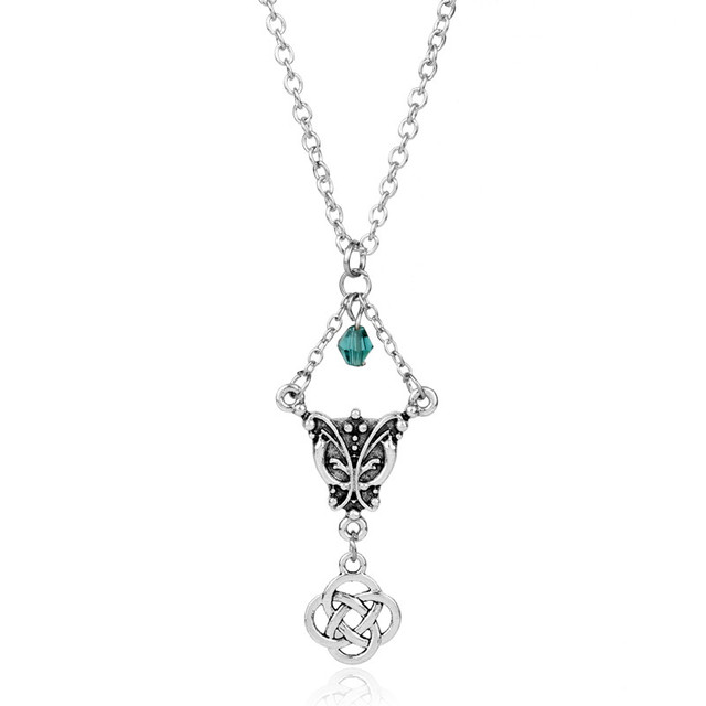Outlander Elegant Butterfly with Luck Irish Knot Necklace