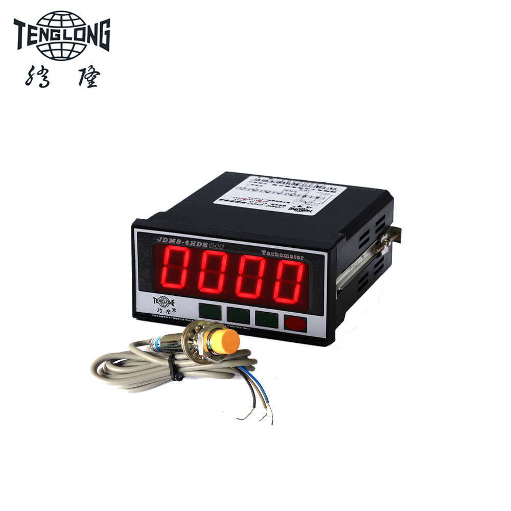 JDMS-4HDZ LED digital tachometer speed meter and Inductive Proximity Sensor Detection Switch NPN with 0-30V voltage input 1pcs m8 2mm sensing inductive proximity sensor switch npn work voltage 5v dc special for mcu