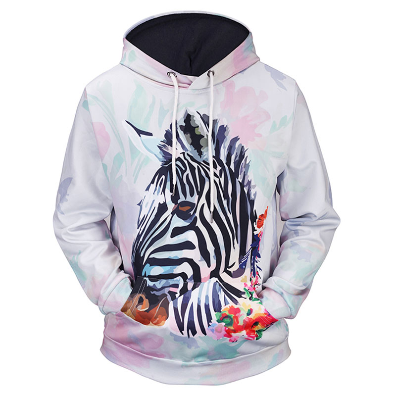 Headbook New Fashion Women/Men Flowers Hoodies Print Watercolor Floral Zebra 3d Sweatshirts Thin Hooded Hoody Tops 17090208