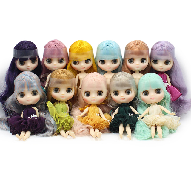 Factory Middie Blythe Doll 20cm Long Hair 18 Options Free Gift