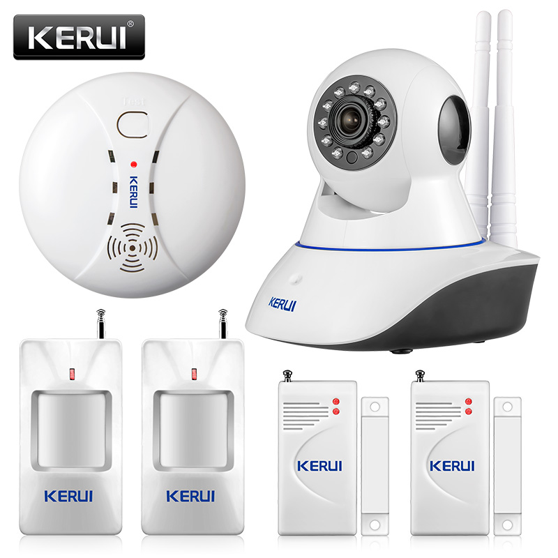 KERUI 720P Sicherheitsnetzwerk WIFI IP Kamera 1.0MP HD Wireless Digital Home Security Kamera IR Infrarot Nachtsicht Alarm System