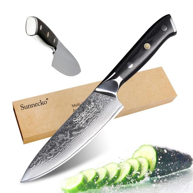 Faca do Chef de cozinha Facas 6.5/8 polegada VG10 Núcleo Super Aço de Damasco Japonês Afiada G10 Punho Vegetal Chef's ferramentas de corte