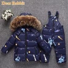 2018 г. зимняя теплая куртка-пуховик для маленьких девочек, одежда для детей, комплекты одежды, парка для мальчиков, пальто с натуральным мехом, детская зимняя одежда, детское пальто