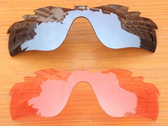 Хром Серебро и Розовый Кристалл 2 Шт. Вентилируемый Замену Линзы Для RadarLock Путь Солнцезащитные Очки Кадров 100% UVA и UVB Защиты