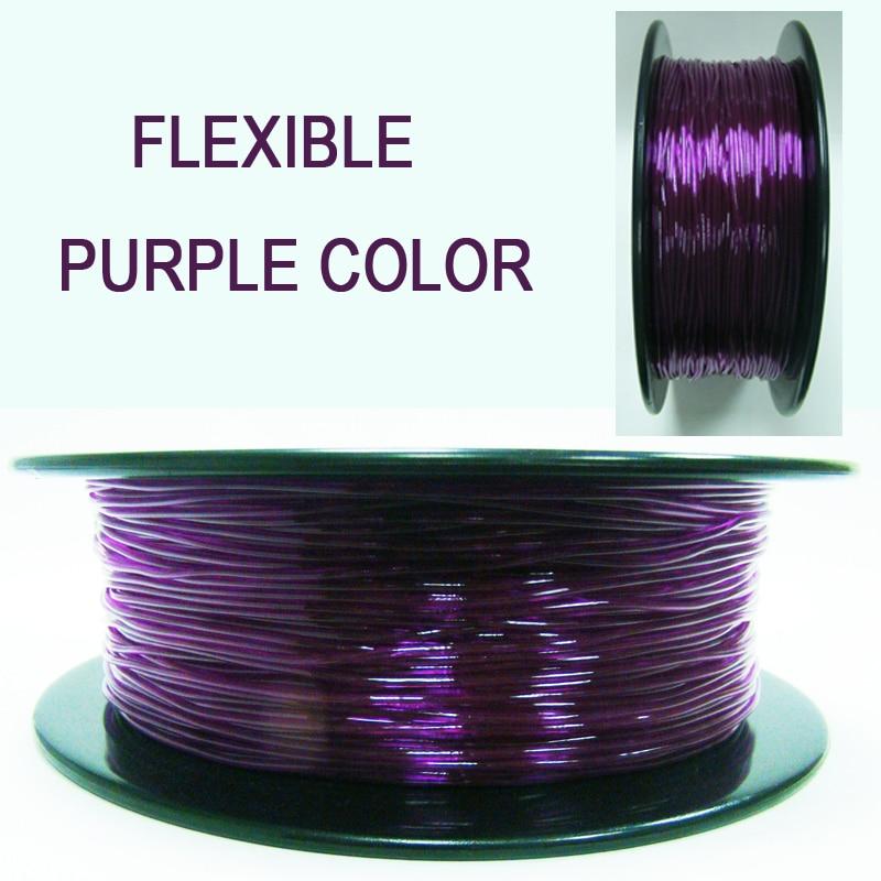 Tpu filamento flexível macio 3d material de impressão filamento flex 1.75mm caneta diferente impressora modelagem shimano scorpio carretel