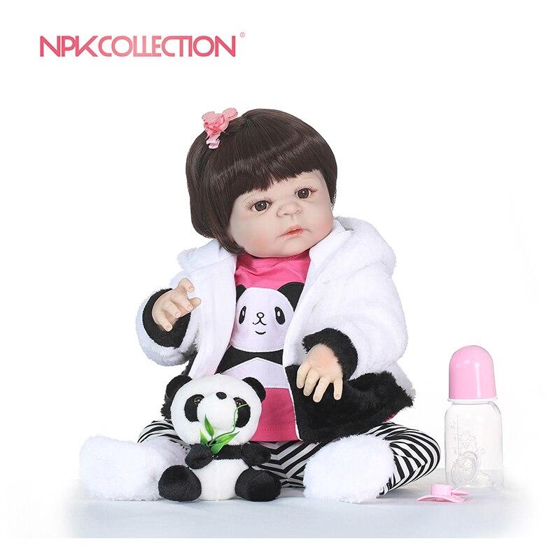 NPKCOLLECTION Realistische Mädchen Bonecas Reborn Babys Puppen Für Verkauf Volle Silikon Vinyl Baby Puppe Spielzeug Lebensechte Kind Weihnachten Geschenk