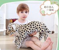 new simulation leopard toy big plush lying leopard doll birthday gift about 60cm 2790