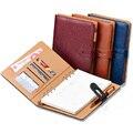 A4 B5 filofax бизнес полная кожа PU крышки дневника filofax крышка повестки дня синий/вино/черный/коричневый свободные лист пополнения notebook журнал
