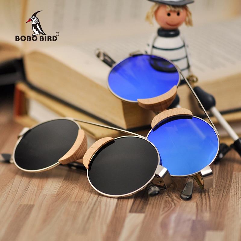 BOBO BIRD Children Sun glasses kids Sunglasses Women Wooden Eyewear Matel UV400 Polarized Wood Ladies Sport Mens in Gifts Box
