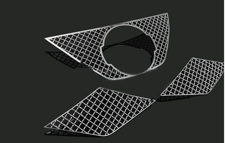 Accessories Front Grille Grill Bezel Cover Trims 3pcs For Nissan X-Trail 2014 2015 / Rogue 2014-2015