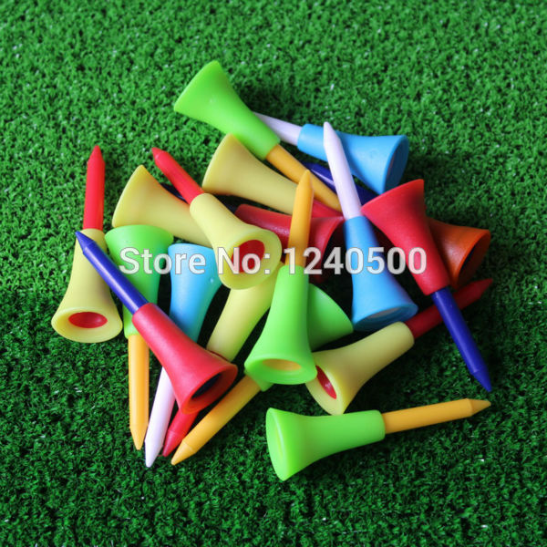 2017 New Golf Tools 1000pcs 1 4/2 56mm Golf Tees Rubber Cushion Top Golf Equipment Muticolor