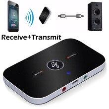 B6 Bluetooth 5.0 2 IN 1 verici alıcı kablosuz ses adaptörü PC için TV kulaklık MP3 araba RCA 3.5MM 3.5 AUX jakı adaptörleri