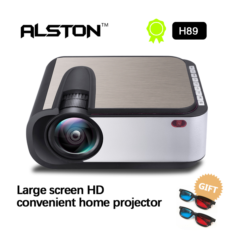 ALSTON H89 projecteur LED Full HD 1280x720 vidéoprojecteur LED Home Cinema 2200 Lumens WIFI Support Miracast/Airplay Proyect