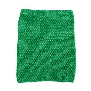 Вязаный топ-труба 9x10 дюймов, топ-пачка для маленьких девочек, вязаная юбка-американка топ-пачка, вязаная крючком повязка на голову, смешанные цвета, 10 шт. в партии - Цвет: Green 10pcs