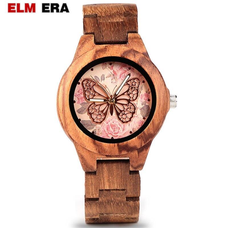ELMERA Wood Watch In Quartz Watches  Wooden Watch For Women Luxury Wristwatch Relogio Feminino