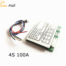 4S 100A BMS 12.8V Lithium iron phosphate battery 14.8V lithium battery protection Board with balanced Version Split port