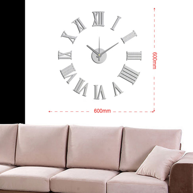 Modern Wall Clock Design Wanduhr Wandklok Diy Relojes Pared Self Adhesive  Home Decor Pared Relogio Parede