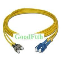 Оптоволоконный Соединительный шнур, джампер, кабель Φ UPC SC/Φ/UPC SM дуплексный GoodFtth 20 50m