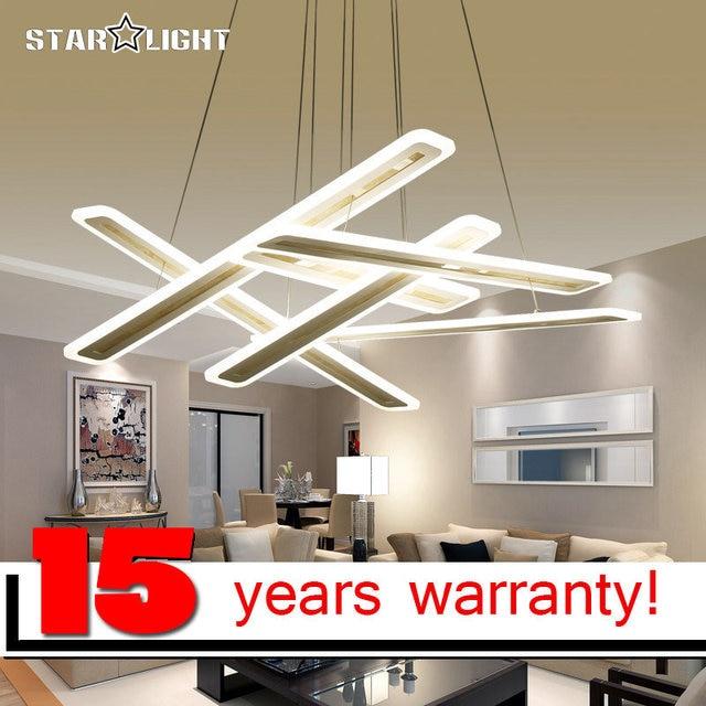 New Modern Led Hanging Chandelier For Living Room Bedroom Lighting Square  Art Indoor Suspension Chandelier Lamp