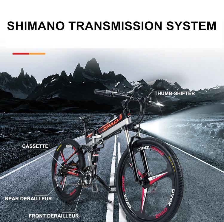 HTB18ZbnhY I8KJjy1Xaq6zsxpXaL - 21 Velocity, 26 inches, 48V/15A, 350W, Folding Electrical Bicycle, Mountain Bike, Lithium Battery, Aluminum Alloy Body, Disc Brake.