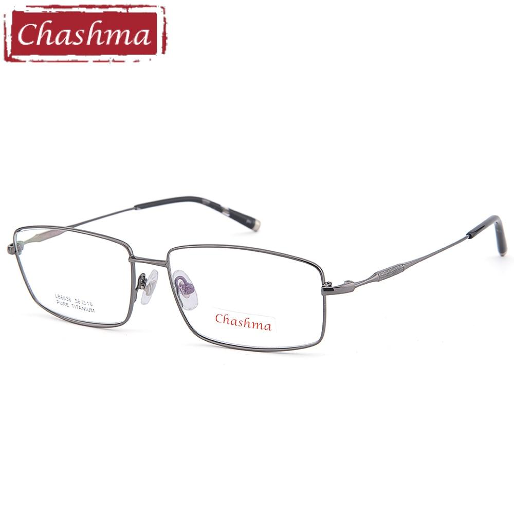 Chashma Senhores Óculos De Titânio Puro Quadro Lentes de Qualidade Ótica  Quadros De Titânio Óculos Masculinos d1e683038a