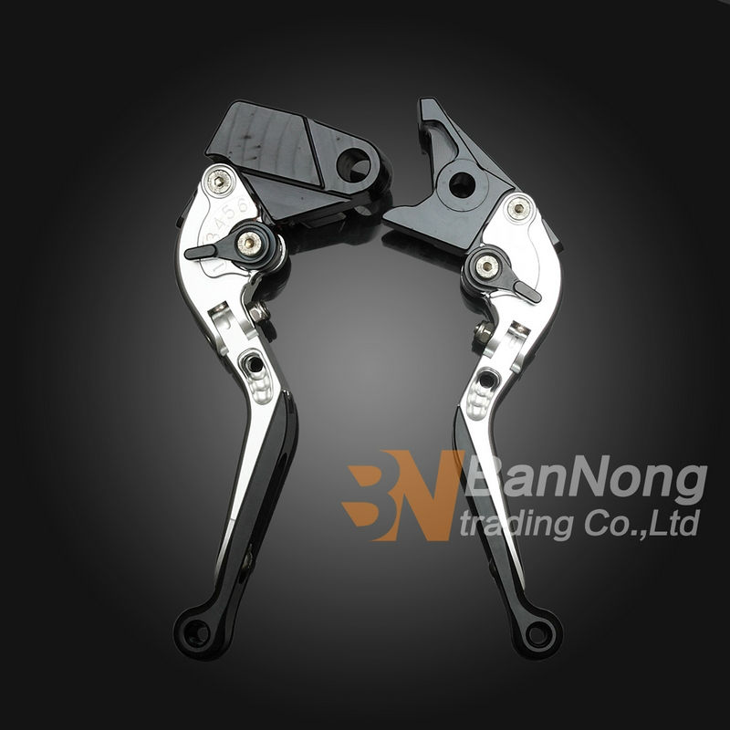 ФОТО Free shipping motorcycle Modified CNC Aluminum Telescopic folding Brake Clutch Levers For Kawasaki KLE650 VERSYS 06-07-08