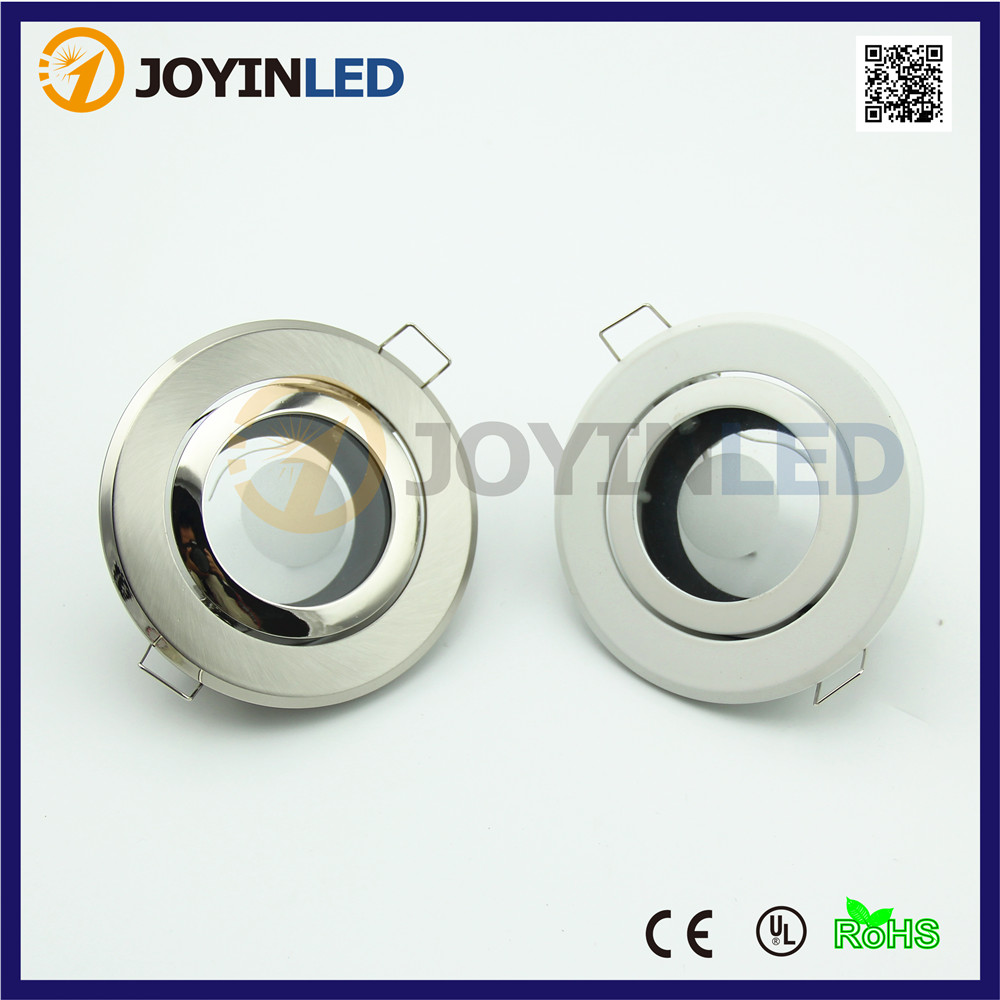 high quality Zinc Alloy gu10 mr16 socket recessed LED spot light fixture frame circle satin fitting