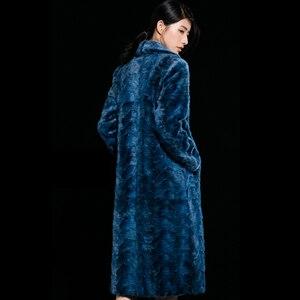 LVCHI норковая Норковая женская натуральная Шуба женская теплая Модная простая Шуба с разрезом волнистый дизайн