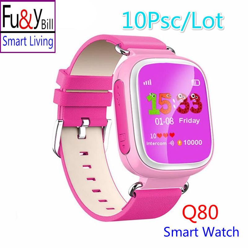 (10 Pcs/Lot) Q80 Children's GPS Positioning Smart Phone Watch 1.44 Inch Color Anti Lost Two-way Call Watch PK Q90 Q60 Q730 Q750 smart baby watch q60s детские часы с gps голубые