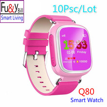 (10 Pcs/Lot) Q80 Children's GPS Positioning Smart Phone Watch 1.44 Inch Color Anti Lost Two-way Call Watch PK Q90 Q60 Q730 Q750