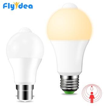 E27 B22 czujnik pir żarówka czujnik ruchu żarówka LED lampa od zmierzchu do świtu żarówka IP42 12W 18W AC 110V 220V brama korytarz inteligentne światło nocne tanie i dobre opinie FLYIDEA CN (pochodzenie) Ciepły biały (2700-3500 k) 2835 Garden AC 85-265 V 1000-1999 lumenów Globe 25000 117mm Żarówki LED