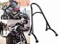 Black Burly Short Sissy Bar for 2014 2016 Harley Sportster 883 1200 XL
