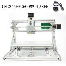 CNC 2418+2500mw laser GRBL control Diy laser engraving ER11 CNC machine,3 Axis pcb Milling machine,Wood Router+2.5w laser(China (Mainland))