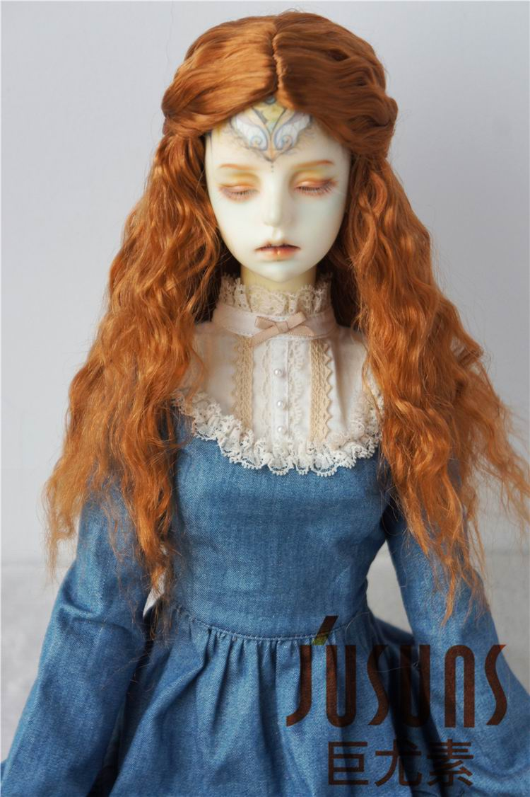 JD119 1/3 Colorful BJD doll wigs Long princess curly wig size 8-9inch 9-10 inch Soft Synthetic mohair doll wigs doll accessories jd031 1 8 1 6 1 4 long curly wig 5 6inch 6 7inch and 7 8inch synthetic mohair wig for bjd doll yosd msd doll accessories