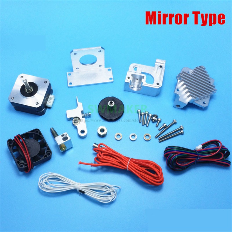 Miroir tout métal Prusa i3 MK2 Titan Aero extrudeuse kit avec moteur + E3D Titan Aero dissipateur de chaleur + V6 hotend j-head